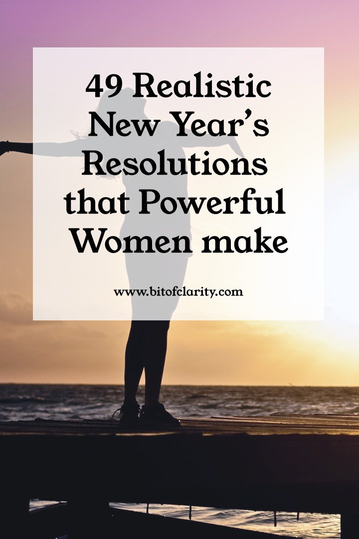 Realistic New Years resolution