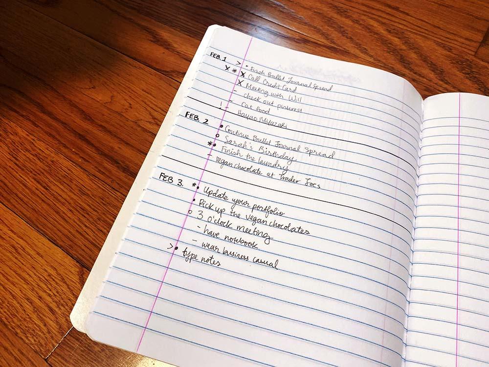 daily-log-bullet-journal