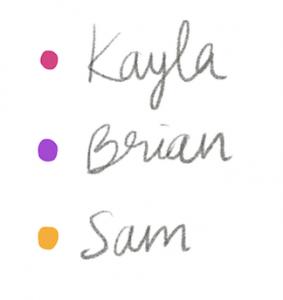 Bullet Journal Key color