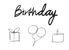 bullet journal symbol birthday