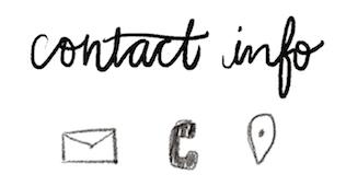 bullet journal symbol contact info