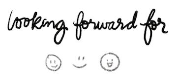 bullet journal symbol looking forward for