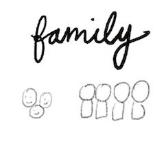 bullet journal symbol family