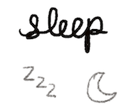bullet journal symbol sleep