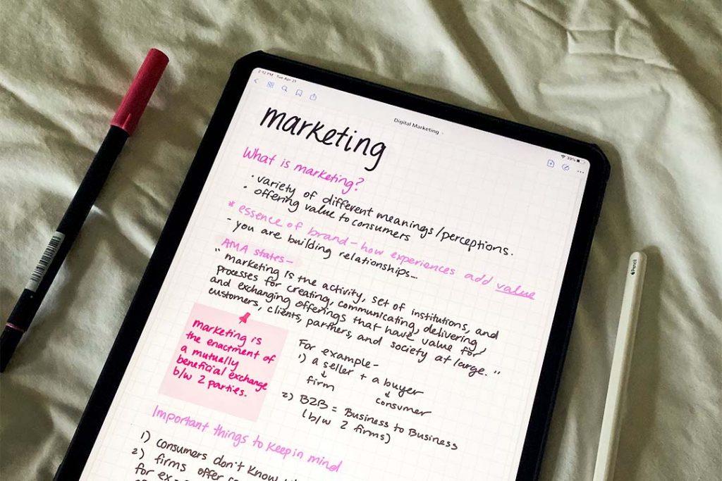 ipad note-taking digital study tips
