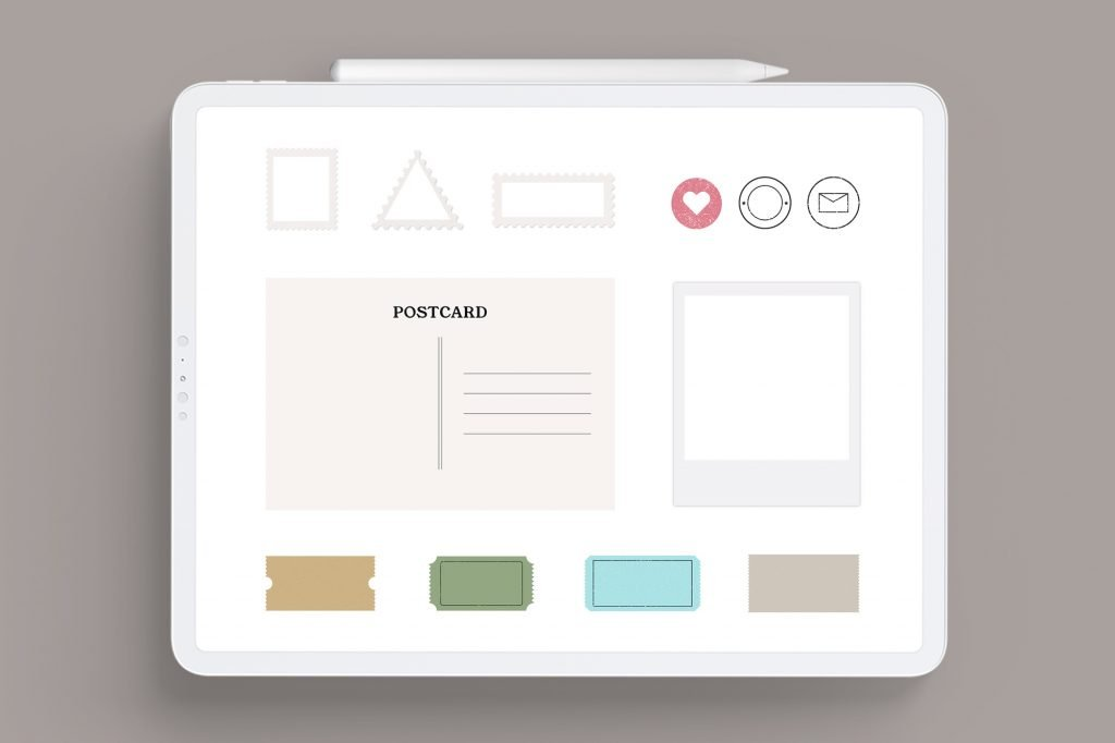 ipad digital planning postage stickers