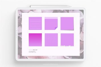 Minimalist Digital Sticky Notes | Pastel Nature Colors