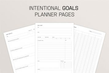 Intentional Goal Planner Pages