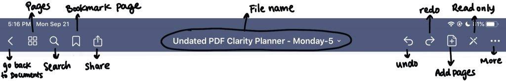 learning the nav bar start digital planning