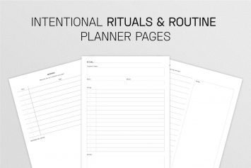 Intentional Rituals and Routines Planner Pages
