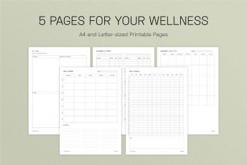 Intentional Wellness Planner Pages