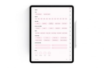 Cherry Blossom Undated Digital Planner