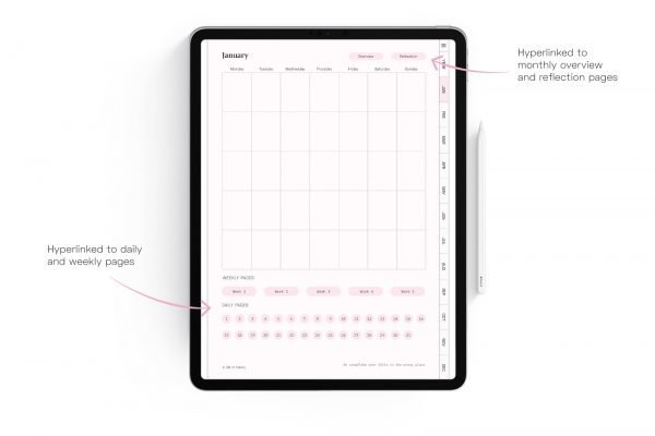 Clarity Planner Monthly Planner Page