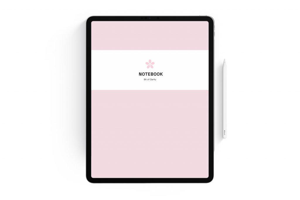 digital planner notebook cover