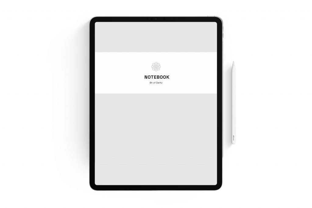 grey digital notebook