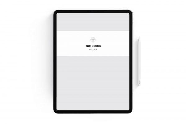 grey digital notebook