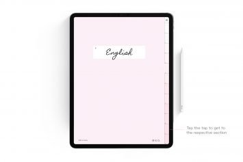 Cherry Blossom Pink Digital Notebook – 12 Subject