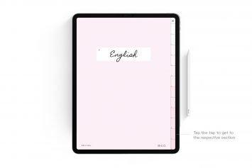 Cherry Blossom Pink Digital Notebook – 12 Subject