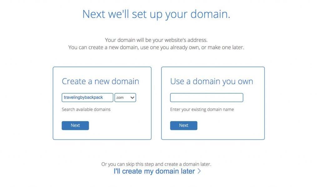 start a blog domain name