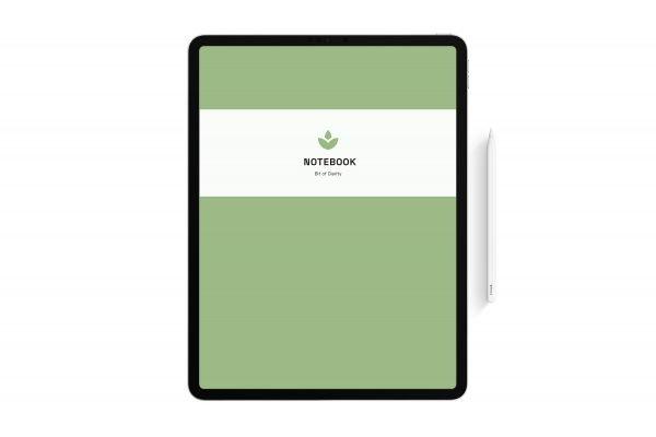 matcha green digital notebook