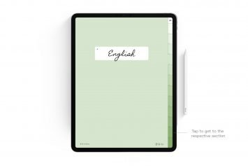 Matcha Digital Notebook – 12 Subject