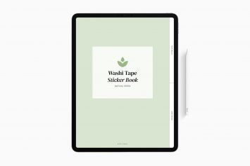 Digital Washi Tape Sticker Book in Matcha Green
