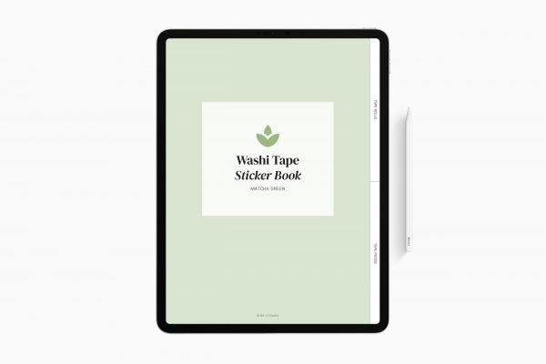 matcha digital sticker book cover